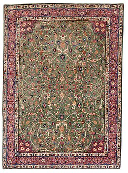 A carpet, a semi-antique Tabriz, ca 374-376,5 x 268-276 cm.