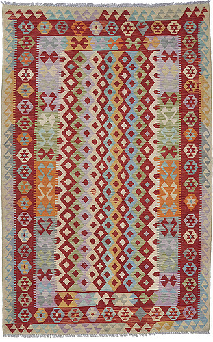 A carpet, kilim, 244 x 157 cm.