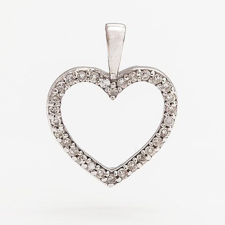 A 14k white gold pendant with diamonds ca. 0.15 ct in total. kultajousi, helsinki.