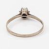 An 18k white gold ring with a cultured pearl. lehtovaara henrik jaakko, helsinki 1991.