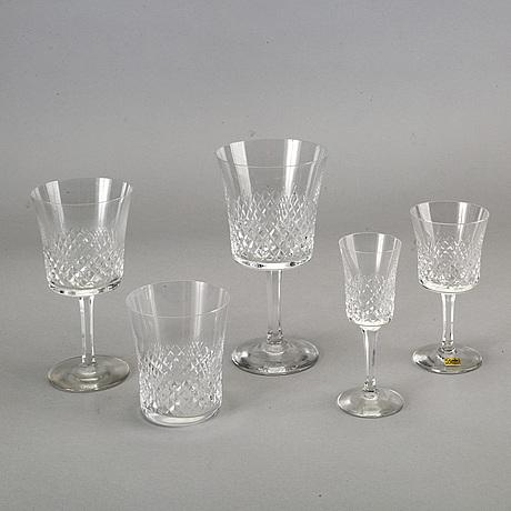 Glasservis, 54 delar, boda, 1900-takets andra hälft.