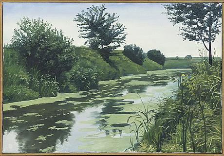 Gerhard nordstrÖm, oil on canvas signed.