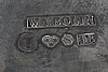 A swedish 20th century set of 2 sivler bowls mark of wa bolin stockholm 1945, weight 740 gr, diam 15, height 8 cm.