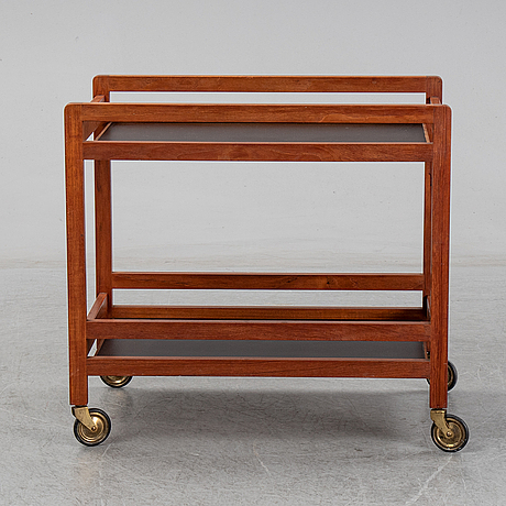 BØrge mogensen, a model 5370 teak serving trolley.