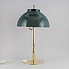 Hans-agne jakobsson, a brass and metal table lamp, markaryd.