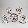 Eight imari dishes, qing dynasty, qianlong (1736-95).