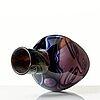 """Eva englund, a """"graal"""" glass vase, orrefors, sweden 1989."""