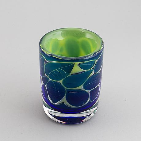 "Olle alberius, vase ariel ""astrakan"" orrefors, unsigned."