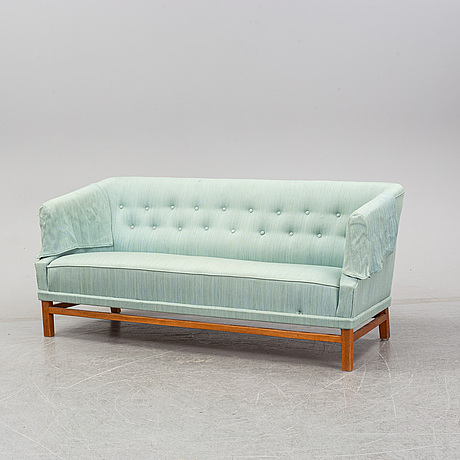 Carl-axel acking, a swedish modern sofa, probably executed at the hjalmar jackson carpentry, stockholm. 1940's.