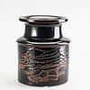 Stig lindberg, a stoneware vase, from gustavsbergs studio.