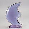 An 1950/60:s glass sculpture 'pesce' by flavio poli for seguso vetri d'arte, murano italy.