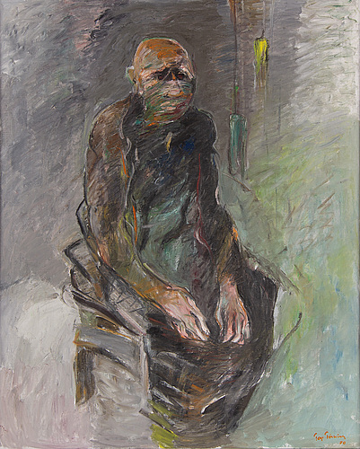 Tage törning, oil on canvas, signed and dated -70.