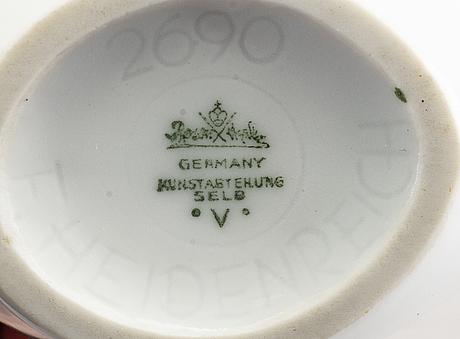 A set fo 4 german porcelain vases, 1950's.