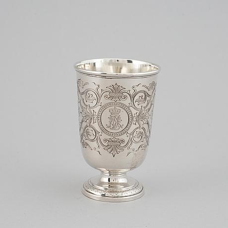 Jc klinkosch, bägare, silver, (verksam i wien) 1800-talets slut / 1900-talets början.