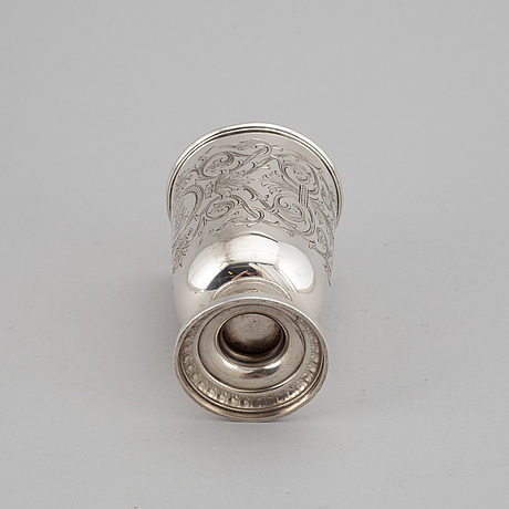 An austrian late 19th century / early 20th century silver beaker, marked jc klinkosch (vienna).