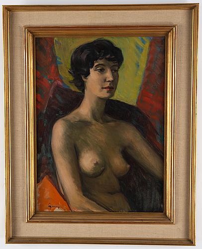Carl gunne, oil on canvas, signed.
