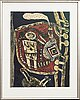 Beverloo corneille, färglitografi, signerad,och numrerad 32/200 -71.