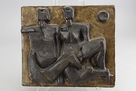 Åke holm, stoneware, signed.