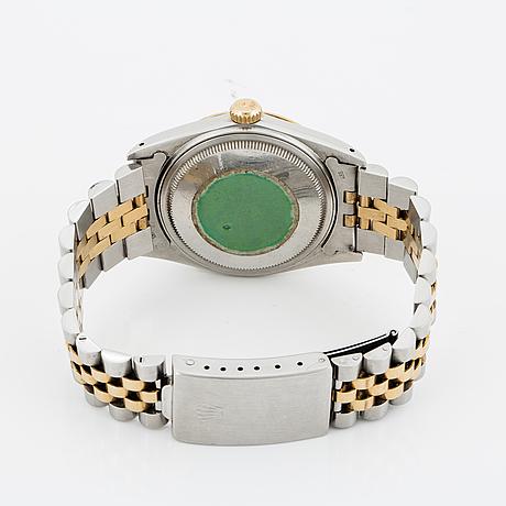 Rolex, oyster perpetual, datejust, chronometer, armbandsur, 36 mm.