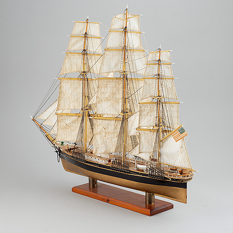 A ship model after the clipper the flying cloud, 20th century.