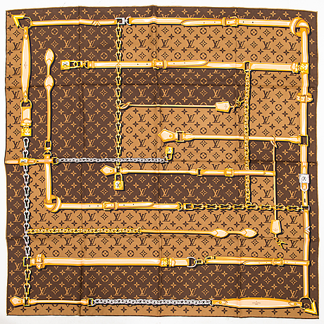 Louis vuitton,  a 'monogram confidential square', scarf.