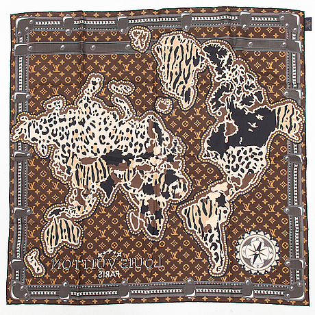 Louis vuitton, a 'lv world square', scarf.