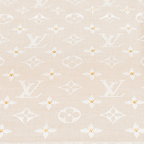 Louis vuitton, 'studdy denim monogram shawl'.
