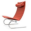 Poul kjaerholm, a danish 1995 'pk-20' lounge chair for fritz hansen.