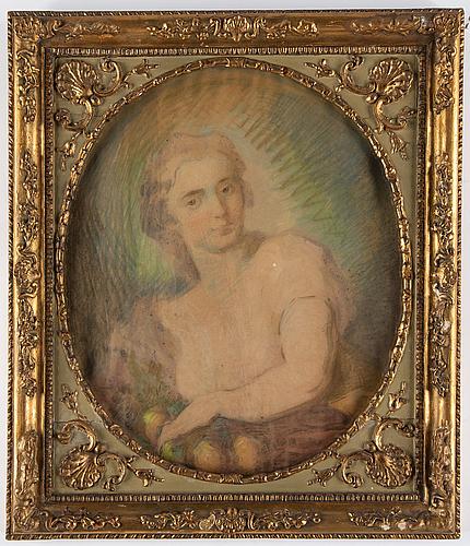 Unknown artist, 19th century, pastel, mixed media.