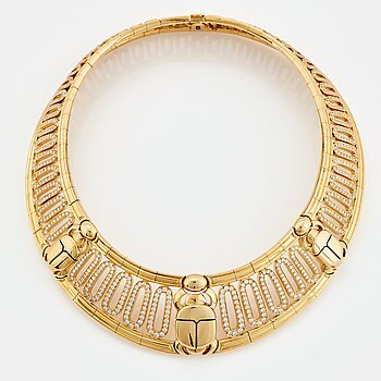 "901. Cartier ""Scarab"" a necklace."