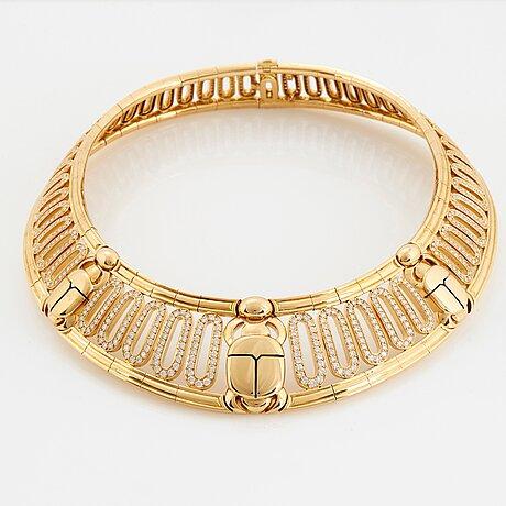 "Cartier ""scarab"" a necklace."