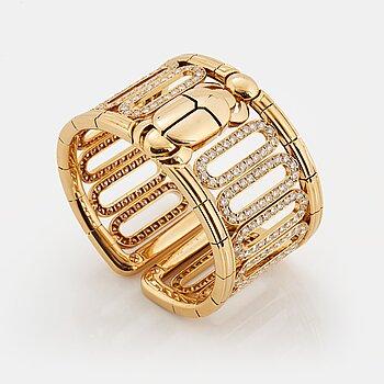 "902. Cartier ""Scarab"" a cuff bracelet."