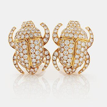 "903. Cartier ""Scarab"" a pair of earrings."