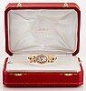 """Cartier """"baignoire"""" wristwatch."""