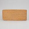 Herman rosell, skulptur, snidat och bemålat trä, signerad och daterad 1955.