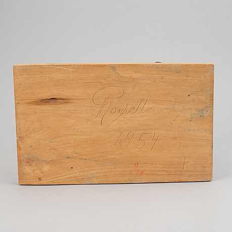 Herman rosell, sculpture, wood, signed and dated 1954.