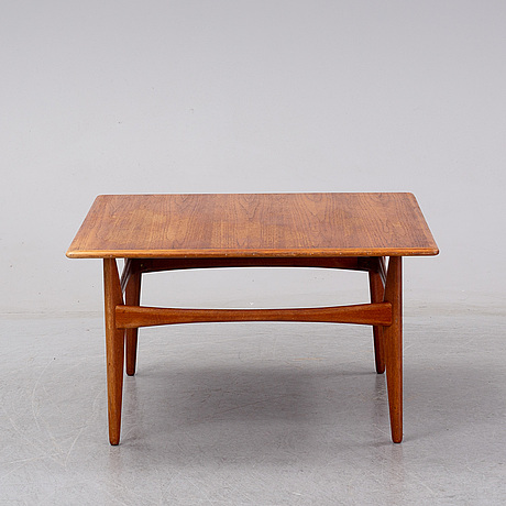 A karl erik ekselius teak and teakveneered lounge table, for joc, vetlanda 1960s.