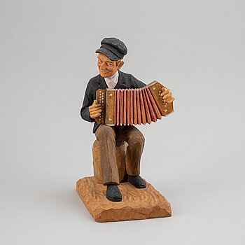 HERMAN ROSELL, sculpture, wood, signed and dated 1957.