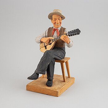 HERMAN ROSELL, sculpture, wood, signed and dated 1949.