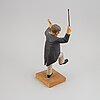 Herman rosell, sculpture, wood, signed and dated 1956.