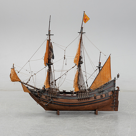 A modelship from the first half of the 20th century.