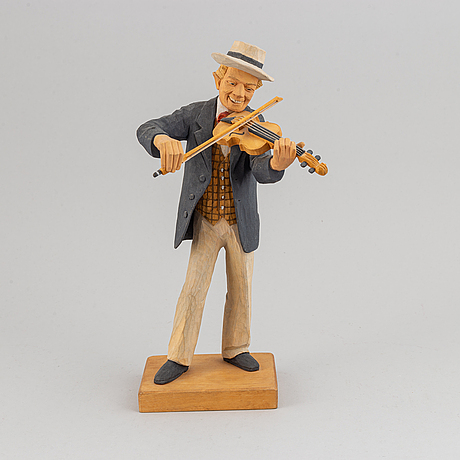 Herman rosell, sculpture, wood, signed and dated 1965.