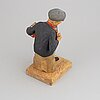 Herman rosell, sculpture, wood, signed and dated 1959.