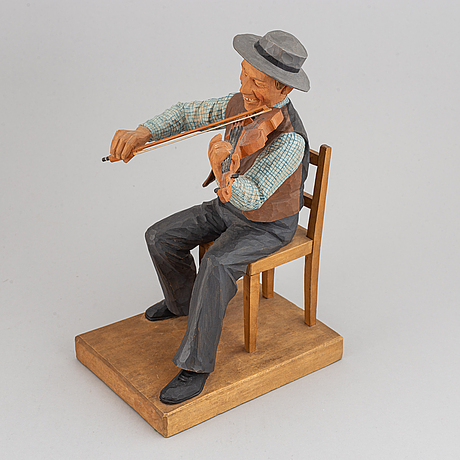 Herman rosell, sculpture, wood, signed and dated 1948.