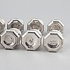 A cartier, set of eight salt and peppar shakers, sterling silver.