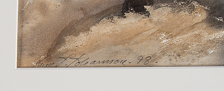 Rune johansson, watercolour, signed and dated -98.