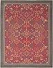 Ceci söderlund, matta, silke på bomullsvarp. ca 356x272 cm.