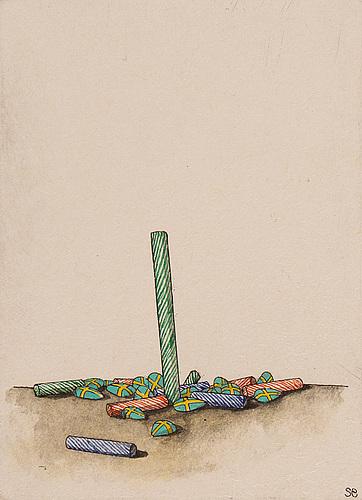Sten eklund, coloured etching, 1981, signed pt v-v.