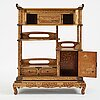 A japanese lacquered display cabinet, shodona, 19th century.