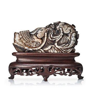 651. Skulptur, sten. Kina, sen Qingdynasti, tidigt 1900-tal.
